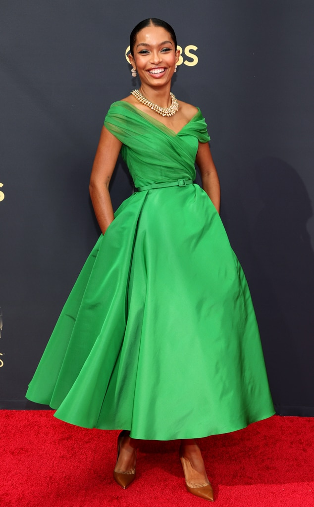Yara Shahidi, 2021 Emmys, Emmy Awards, Red Carpet Fashions, Arrivals