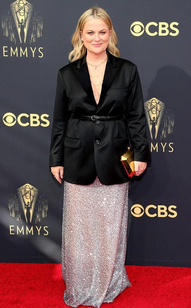 Amy Poehler, 2021 Emmys, Emmy Awards, Red Carpet Fashions, Arrivals