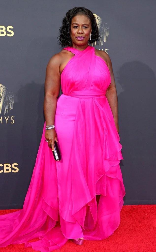 Uzo Aduba, 2021 Emmys, Emmy Awards, Red Carpet Fashions, Arrivals