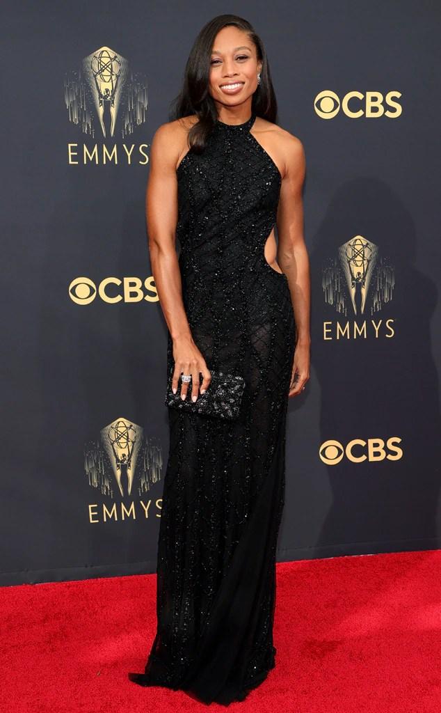 Allyson Felix, 2021 Emmys, Emmy Awards, Red Carpet Fashions, Arrivals