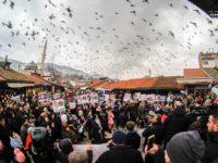 Sa protesta u Sarajevu poručeno: Zemlja Palestinaca ne može se nikome poklanjati