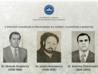 Sjećanje na dr. Ahmeda Smajlovića, Ismeta Kasumovića i dr. Ibrahima Džananovića