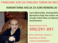 Otvoren humanitarni broj za šestogodišnju Azru Neimarliju iz Kaknja