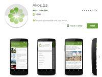 Nova verzija Akos.ba Android mobilne aplikacije dostupna na Google Play Store