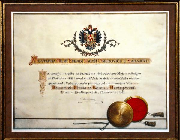 Prva menšura za bosansko-hercegovačkog Reis-ul-ulemu