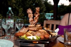 Some kind of giant meat platter Jessica ordered! Rakovica, Croatia, June 2013. Photo © Deja'vu Gallery