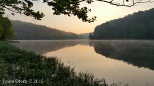 self love, sunrise over a lake