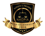 NAOPIA Top Ten Attorney Badge