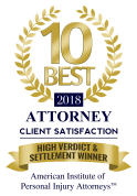 2018 High Verdict & Settlement Winner Badge