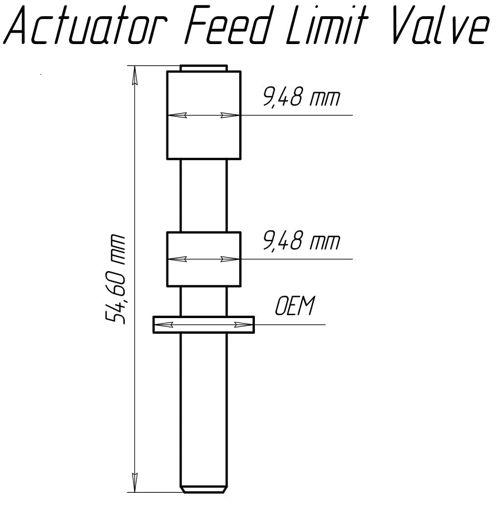 hight resolution of the dimensions of the valve do not coincide with the dimensions of a similar sonnax valve for its installation it is necessary to use a reamer