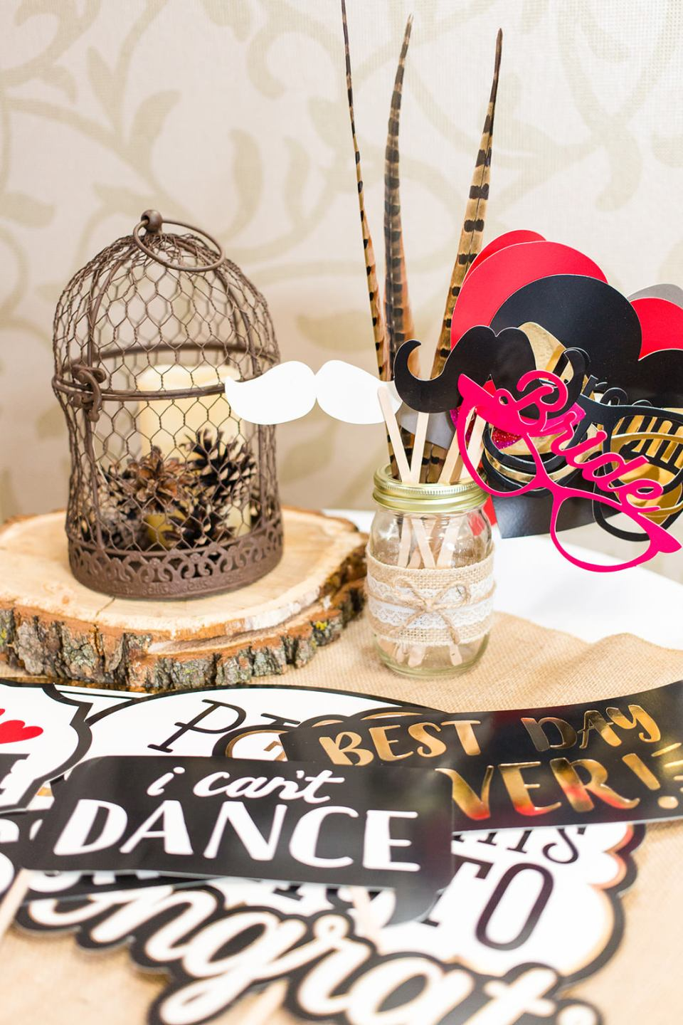 Photo props for photo Alternative guest books