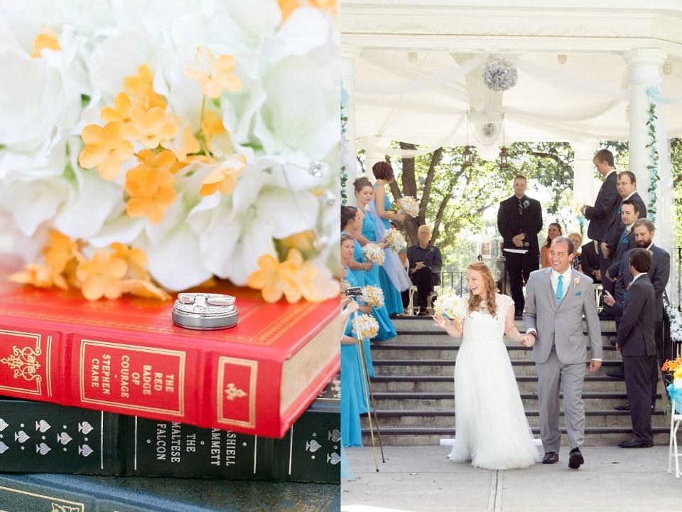 Summer wedding at the Island Park Gazebo in Fargo, ND