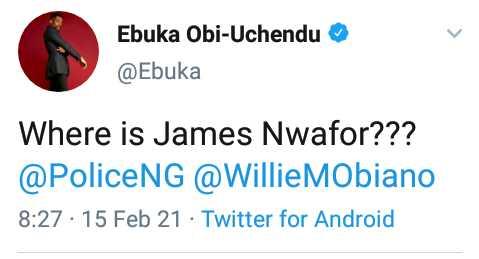 Ebuka Obi-Uchendu queries Anambra state Governor Obiano Police on the whereabouts of former OC SARS Awkuzu