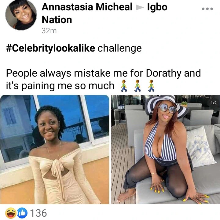 "People always mistake me for ""Dorathy"" & it pains me - Young Lady reveals"