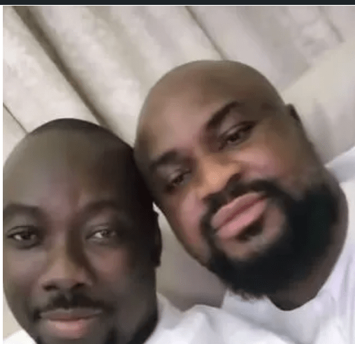 Obi Cubana Shares Passionate Kiss With His Brother (PHOTO)