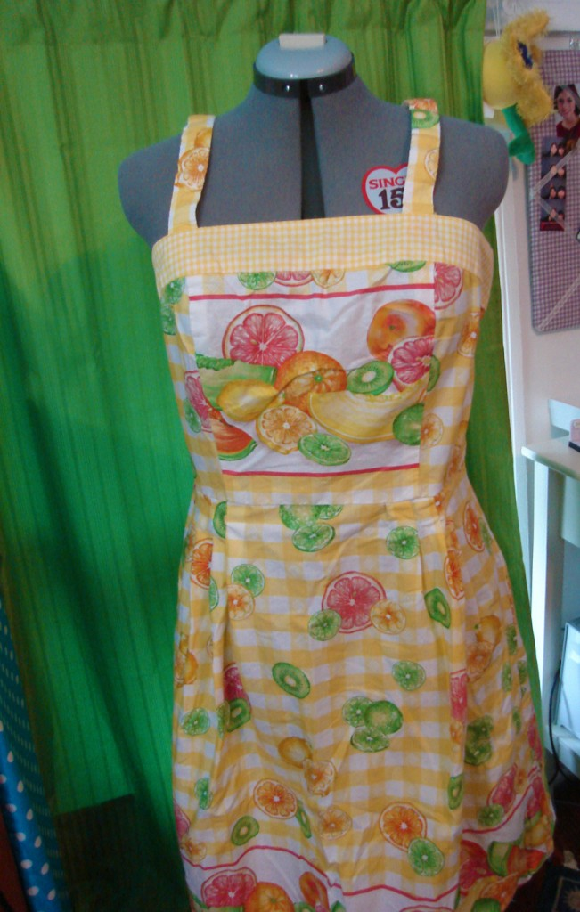 Completed dress