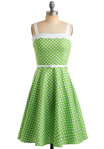 Lime in Love Dress by Modcloth