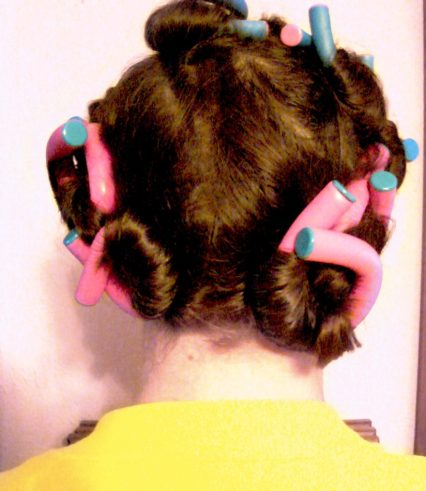 Me in curlers