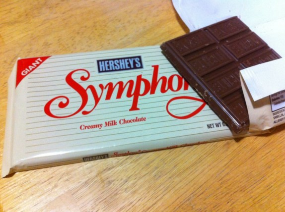 The cake called for Hershey's Chocolate Symphony bar