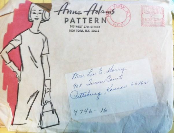 Vintage mail order pattern