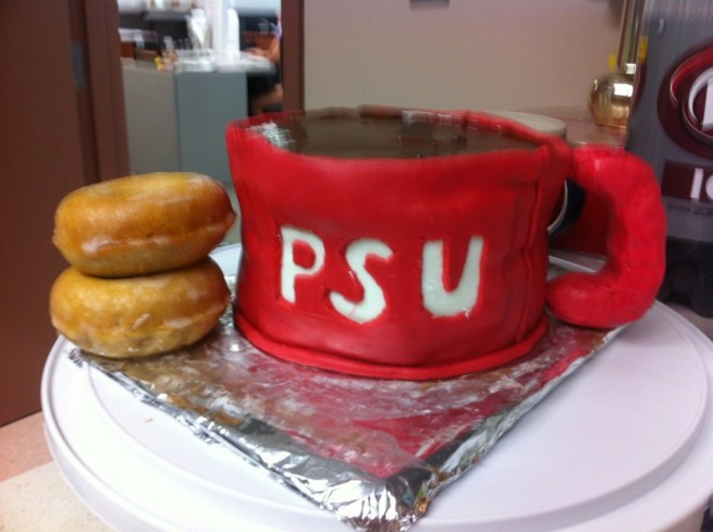 Coffee and Doughnuts, test cakes #1