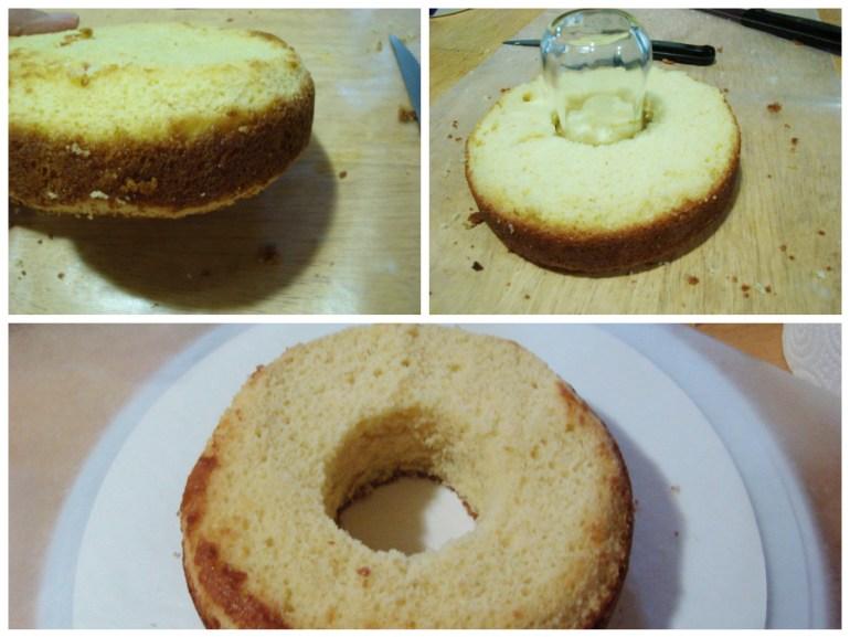 Craving out the doughnut