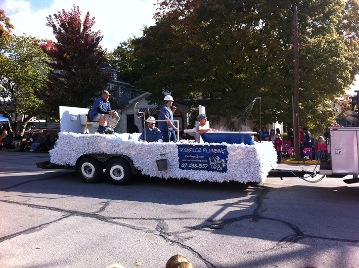 This Plumbing company float, was probably the most creative