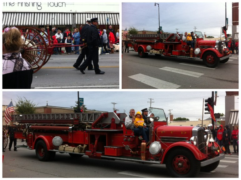 The old fire truck was fun to see in the parade
