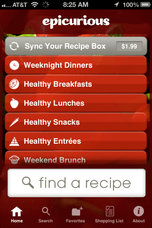 Epicurious Recipe App