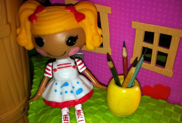 Dot Splatters loves her new jar of pencils