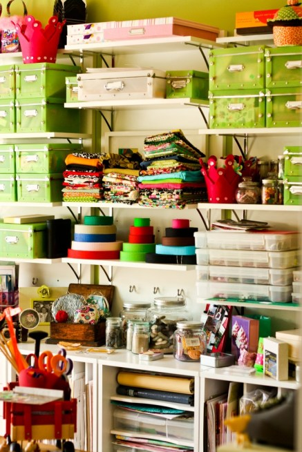 Here's an example of a well organized craft room (photo credit: chrissy.farnan)