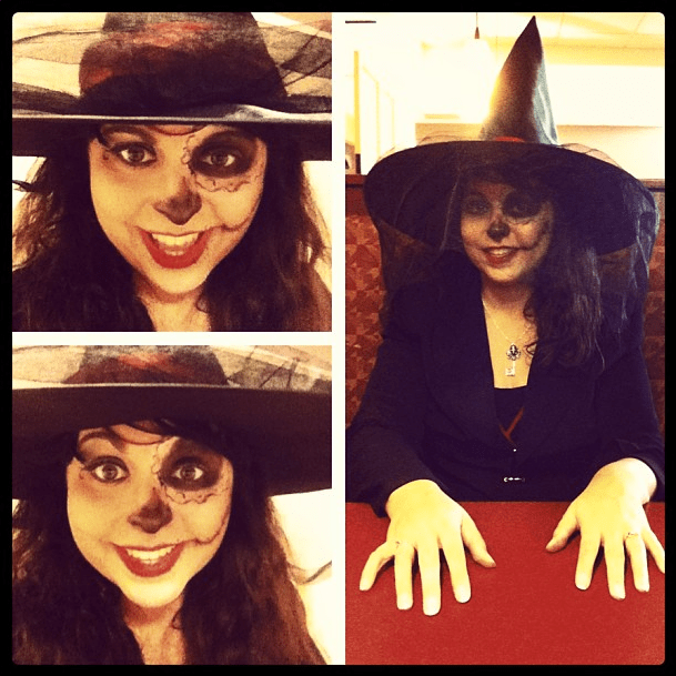 For Halloween I went as the Witch of the dead