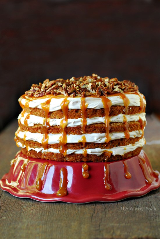 The Caramel Apple Mousse Cake