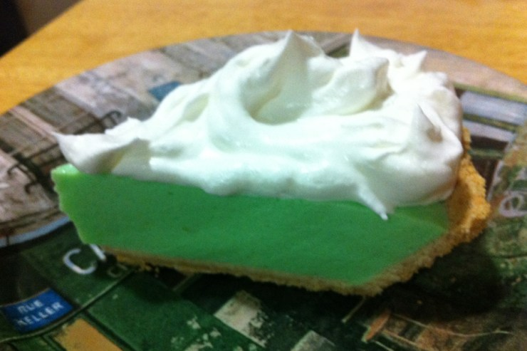 Key Lime Pie topped with Cool Whip