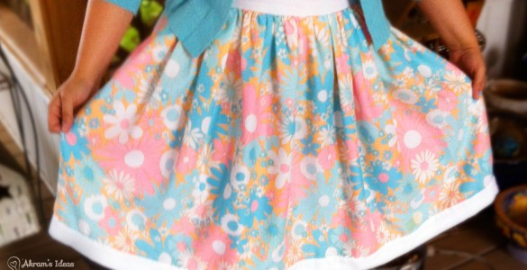 Floral Gathered Skirt