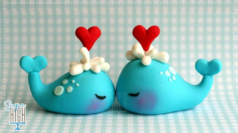 Sugar High Whale Cake Topper