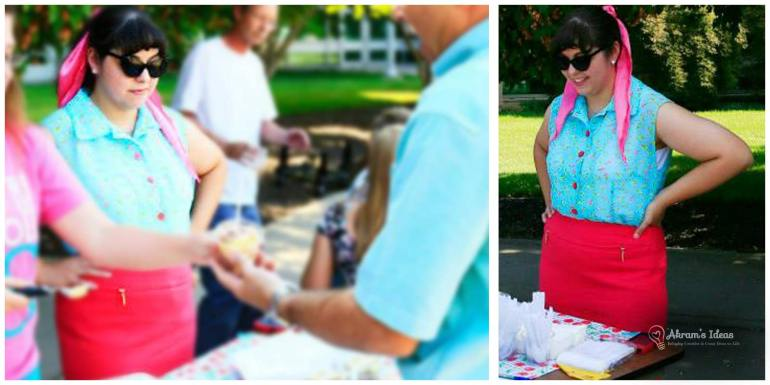 Enjoying our ice cream social (photo by Rion Huffman)