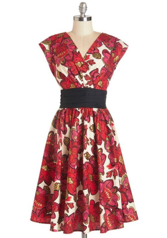 Pretty on the Park Bench Dress By ModCloth