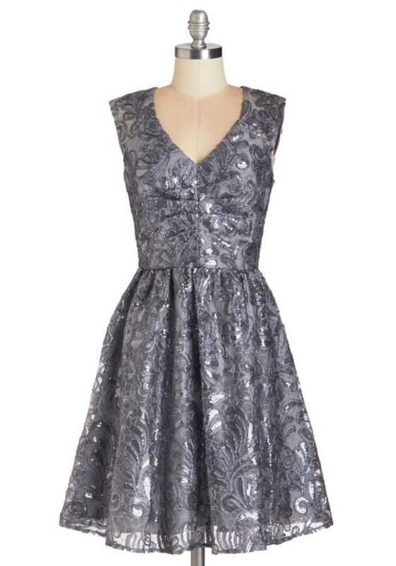Twinkling in Twilight Dress By ModCloth