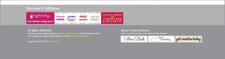 Akram's Ideas footer
