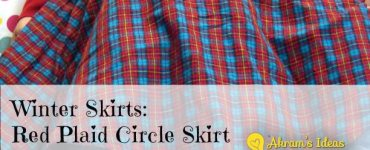 Akram's Ideas: Winter Skirts - Red Plaid Circle Skirt
