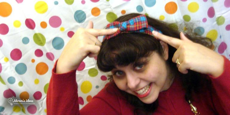 Matching headband with bow