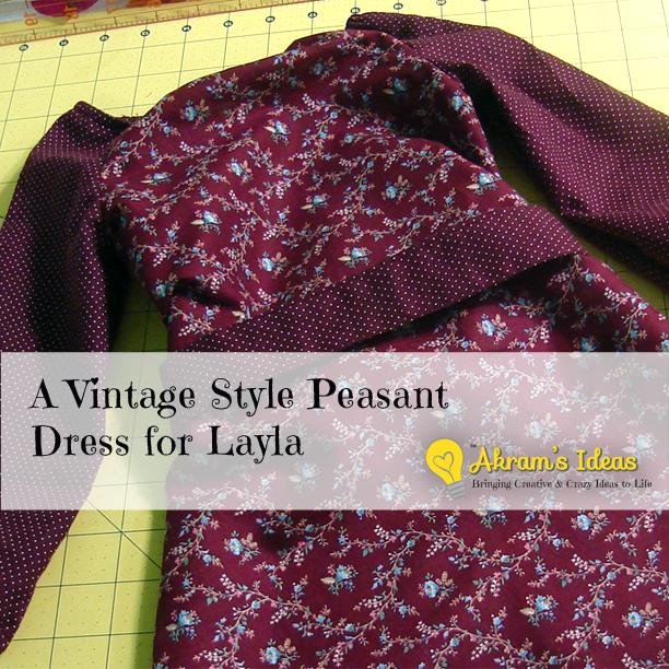 Akram's Ideas: Vintage Style Peasant Dress