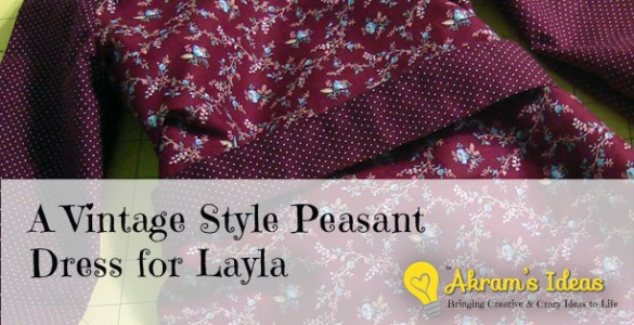 Akram's Ideas: Vintage Style Peasant Dress