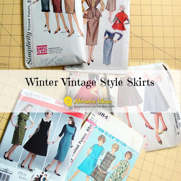 Akram's Ideas: Winter Vintage Style Skirts