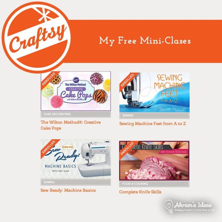Craftsy Mini Classes I've enrolled in.