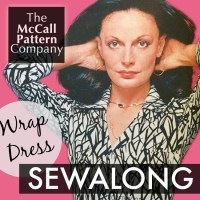 McCalls Wrap Dress Sewalong