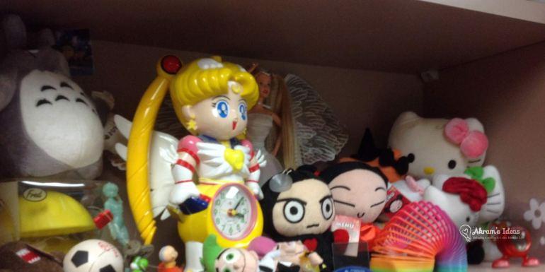 Shelf of Anime toys