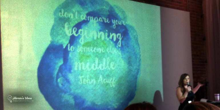 """Don't Compare your beginning to someone else's middle"" - John Acuff"