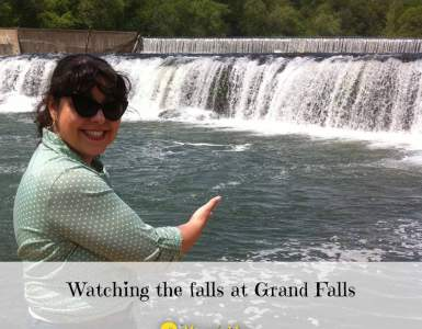 Akram's Ideas : Watching the falls at Grand Falls